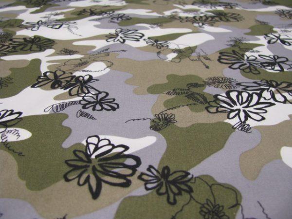 camouflage met opdruk Gossypium