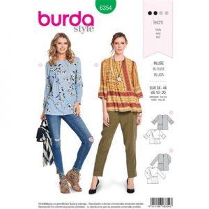Burdapatroon 6354 blouse