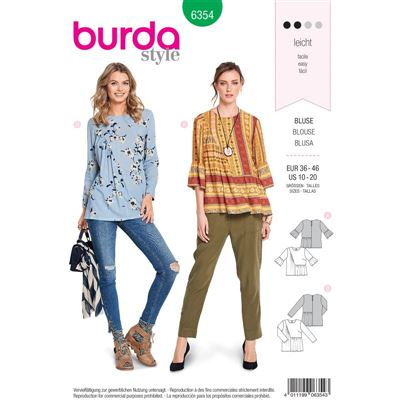 Burdapatroon 6354 blouse
