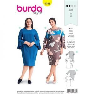 Burdapatroon 6389 jurk