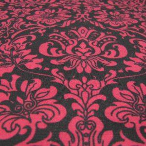 Tricot zwart met kashmir patroon