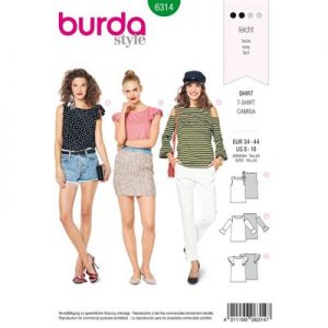 Burdapatroon 6314 shirt en top
