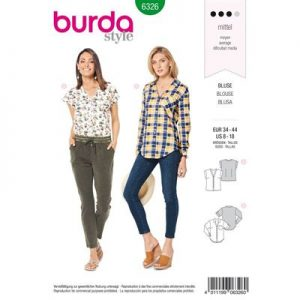 Burdapatroon 6326 blouse