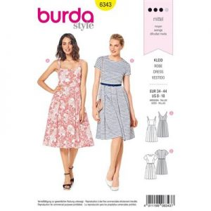 Burdapatroon 6343 jurk