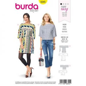Burdapatroon 6345 jurk