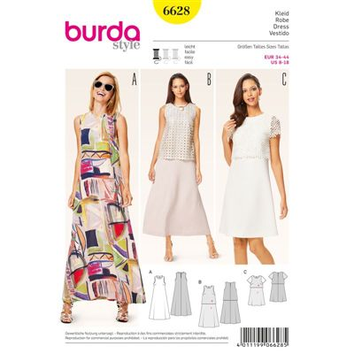 Burdapatroon 6628 jurk