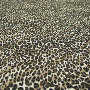 Crepe dierenprint bruintinten Nooteboom