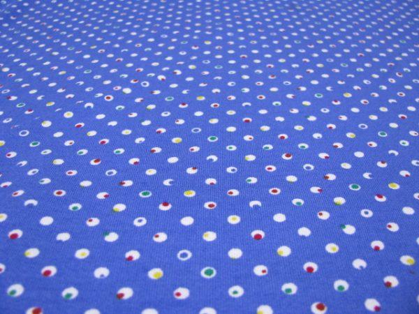 Tricot blauw met stipje Nooteboom