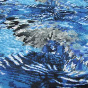 Tricot blauw grijs fantasie
