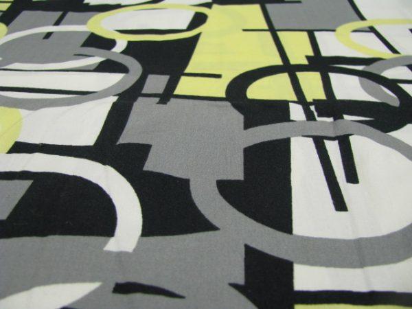 Katoen geel grijs