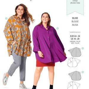 Burdapatroon 6257 blouse