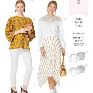 Burdapatroon 6262 blouse