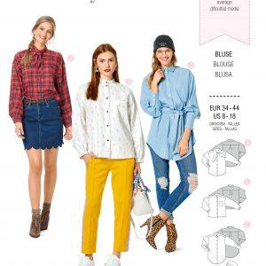 Burdapatroon 6263 blouse