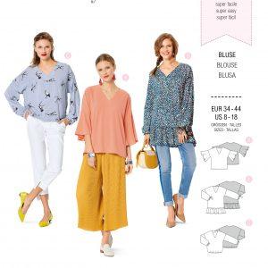 Burdapatroon 6266 blouse