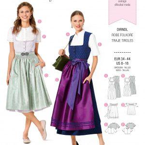 Burdapatroon 6268 folklore jurk