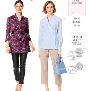 Burdapatroon 6285 blouse