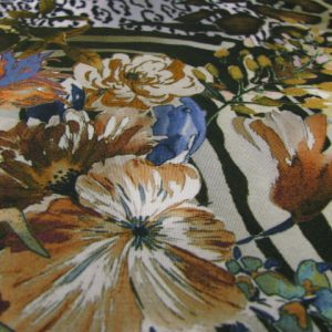 Tricot dierenprint met bloem Arella