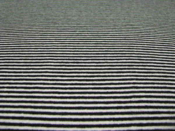 Boordstof streep zwart/wit