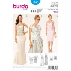 Burdapatroon 6646 jurk en top