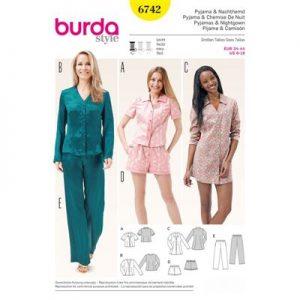Burdapatroon 6742 pyjama en nachthemd
