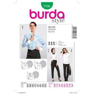 Burdapatroon 7136 blouse