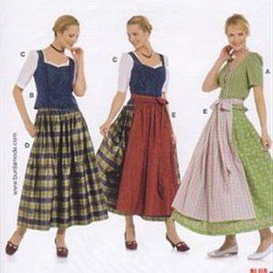 Burdapatroon 7870 folklore jurk