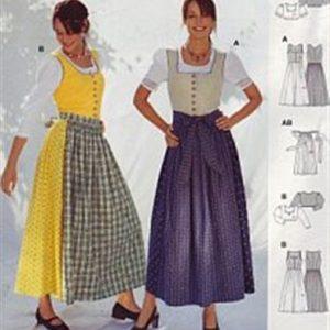 Burdapatroon 8448 tirol jurk