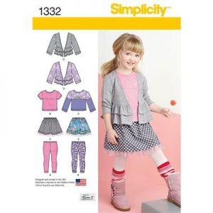 Simplicity patroon 1332 combinatie