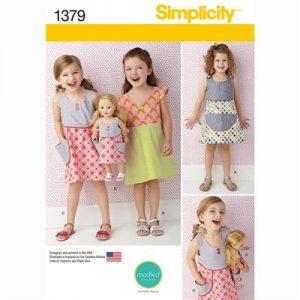 Simplicity patroon 1379 jurk