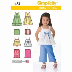 Simplicity patroon 1451 combinatie