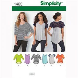 Simplicity patroon 1463 shirt