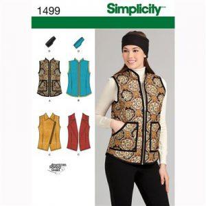 Simplicity patroon 1499 bodywarmer