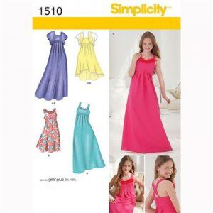 Simplicity patroon 1510 jurk