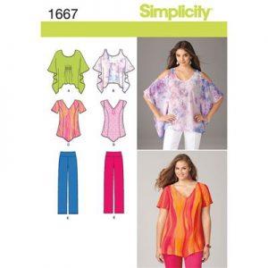 Simplicity patroon 1667 combinatie