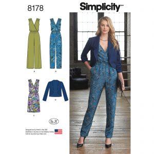 Simplicity patroon 8178 jumpsuit, jurk en jasje