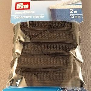 Prym deco elastiek 12mm zwart