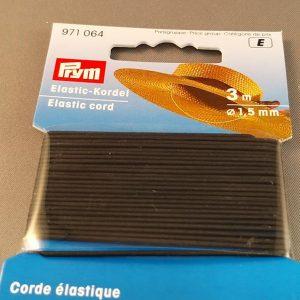 Prym koord elastiek zwart 1,5mm