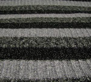 Gebreid streep grijs/zwart Gossypium