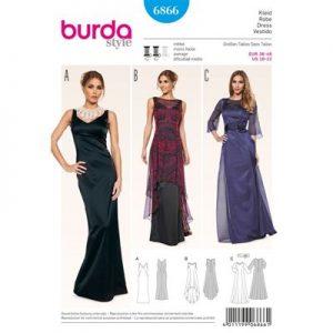 Burdapatroon 6866 jurk