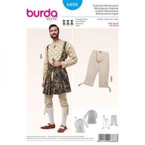 Burda patroon 6888 renaissance kostuum