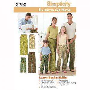 Simplicity patroon 2290 pyjamabroek