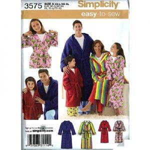 Simplicity patroon 3575 badjas