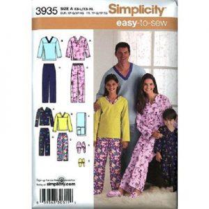 Simplicity patroon 3935 pyjama
