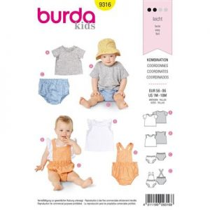 Burda patroon 9316 combinatie