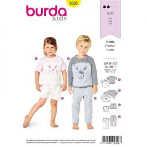 Burda patroon 9326 pyjama