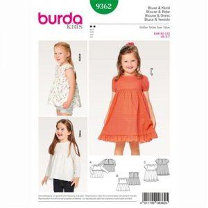 Burda patroon 9362 blouse en jurk