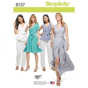 Simplicity patroon 8137 jurk, broek en blouse