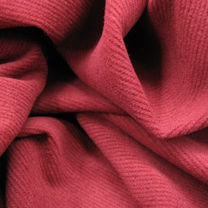 Rib stretch donker rood Gossypium