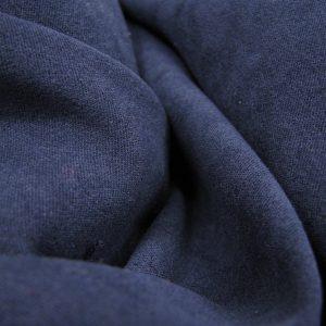 Suedine donker blauw Rijs