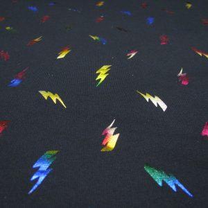 Tricot donkerblauw met bliksemschicht Nooteboom